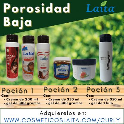 Kit de productos aptos para el método Curly Gir para porosidad baja